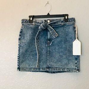 Band of Gypsies acid wash jeans skirt NWT medium